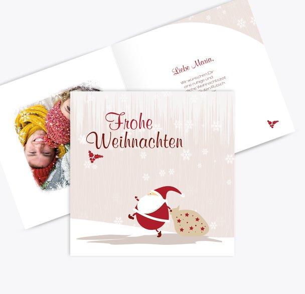 Foto Grußkarte Weihnachtsmann
