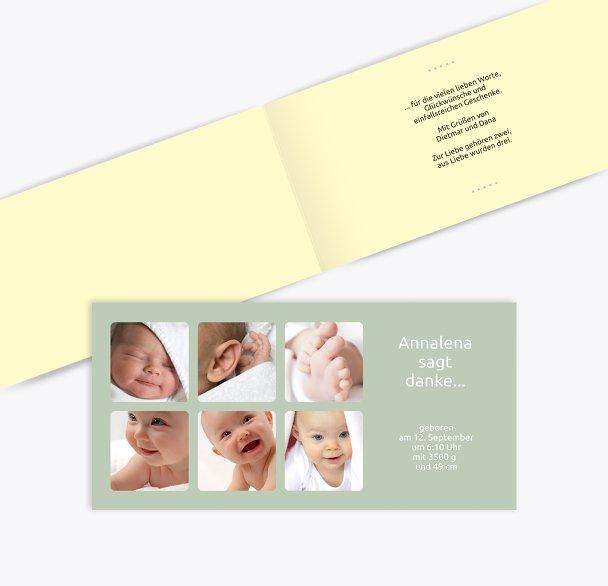 Baby Dankeskarte Album