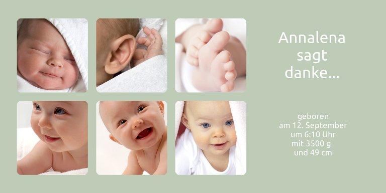 Ansicht 3 - Baby Dankeskarte Album