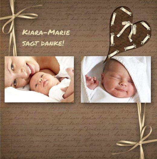 Ansicht 3 - Dankeskarte zur Geburt Gedicht mit Herz