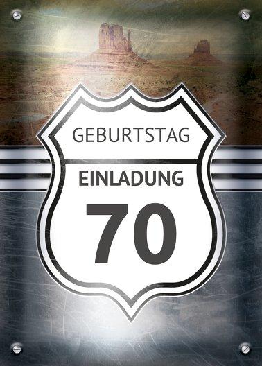 Ansicht 2 - Geburtstagseinladung Route 70