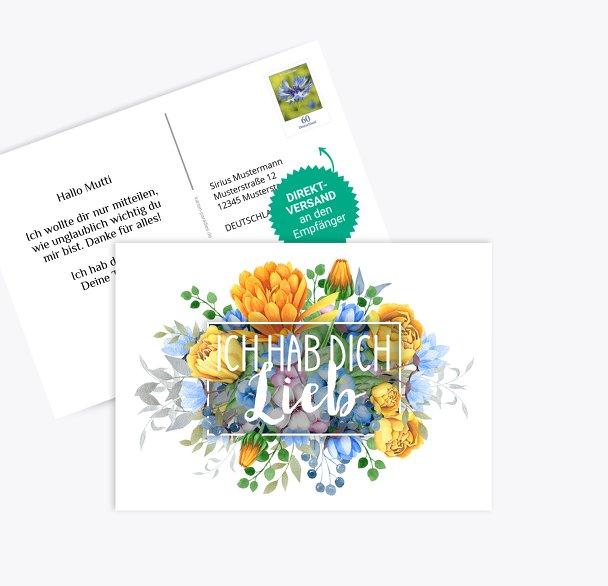 Spruchkarte Blumen