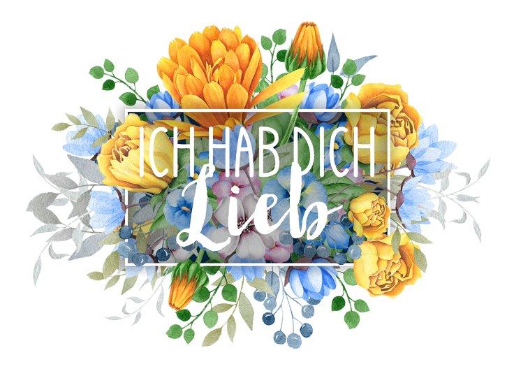 Ansicht 2 - Spruchkarte Blumen