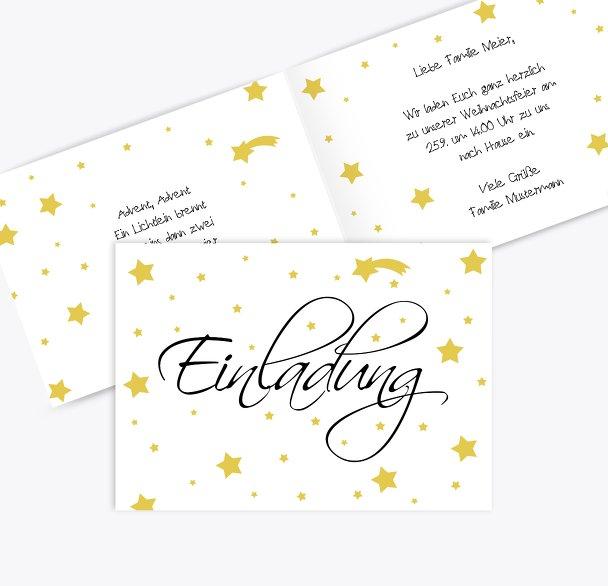 Einladung Sterne