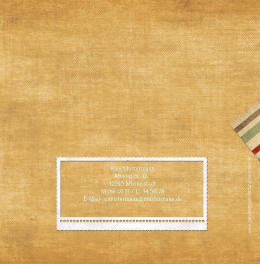 Ansicht 2 - Geburtstagseinladung color stripes Foto