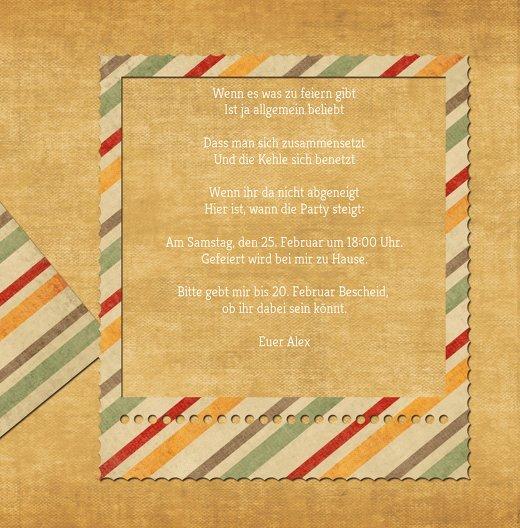 Ansicht 5 - Geburtstagseinladung color stripes Foto