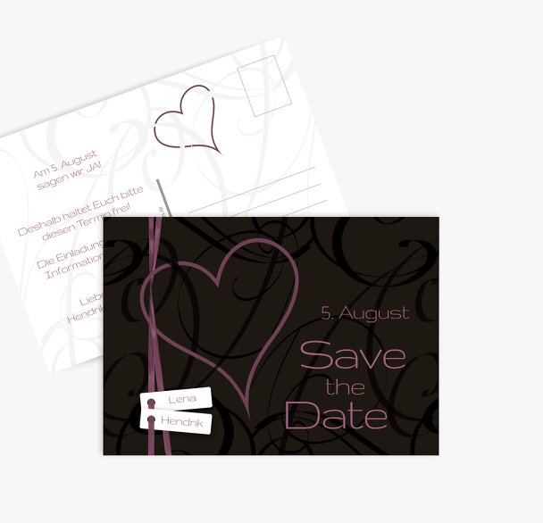 Hochzeit Save-the-Date Band