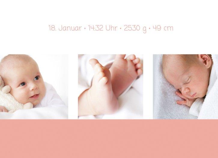 Ansicht 4 - Baby Dankeskarte 3Bilder