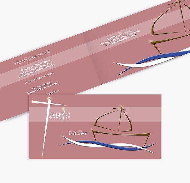 Dankeskarte Schiffchen auf Wellen 2
