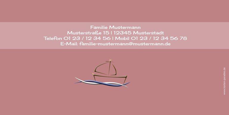 Ansicht 2 - Dankeskarte Schiffchen auf Wellen 2