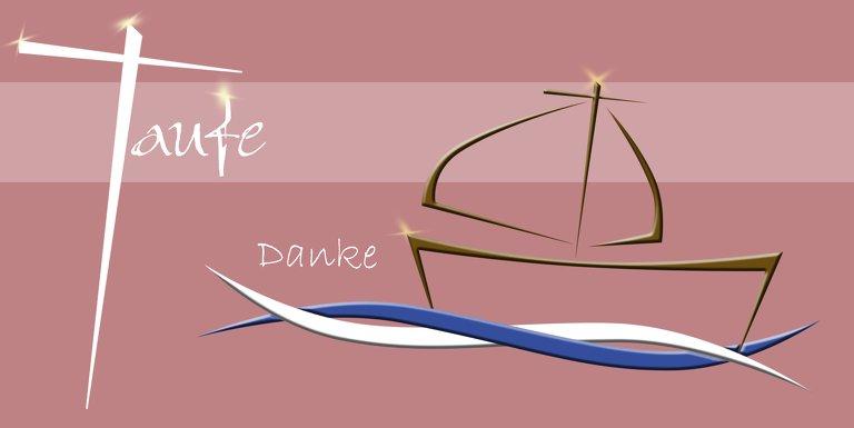 Ansicht 3 - Dankeskarte Schiffchen auf Wellen 2