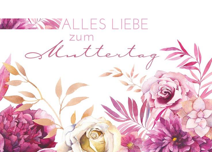 Ansicht 2 - Muttertagskarte Blumen