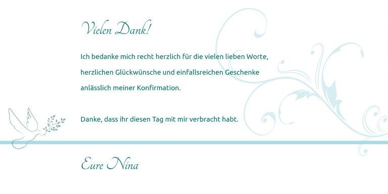 Ansicht 4 - Konfirmation Dankeskarte floral