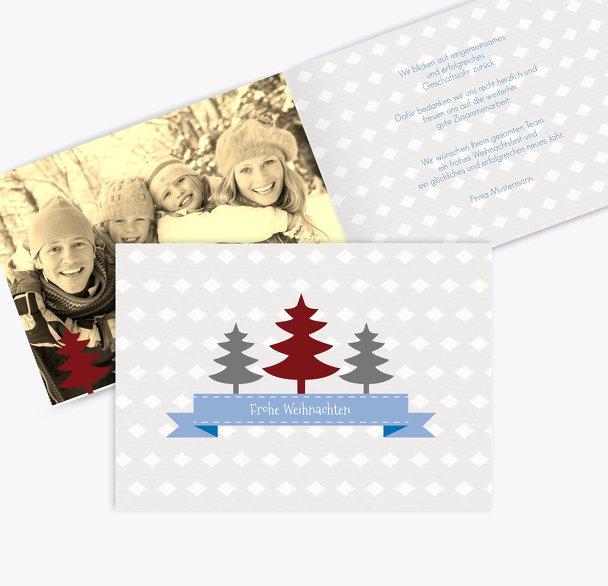Foto Grußkarte Tannenbaum Banner