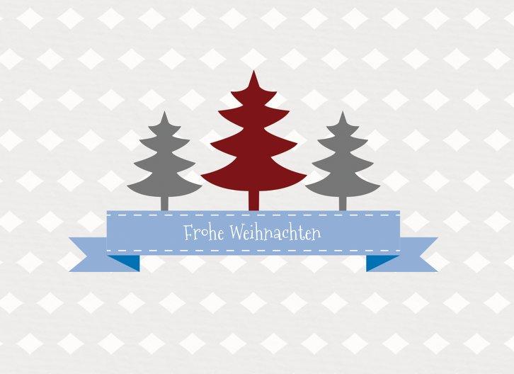 Ansicht 3 - Foto Grußkarte Tannenbaum Banner