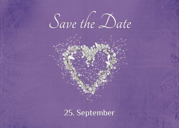 Ansicht 2 - Hochzeit Save the Date glamour heart