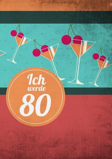 Ansicht 3 - Geburtstagseinladung Cocktailparty 80