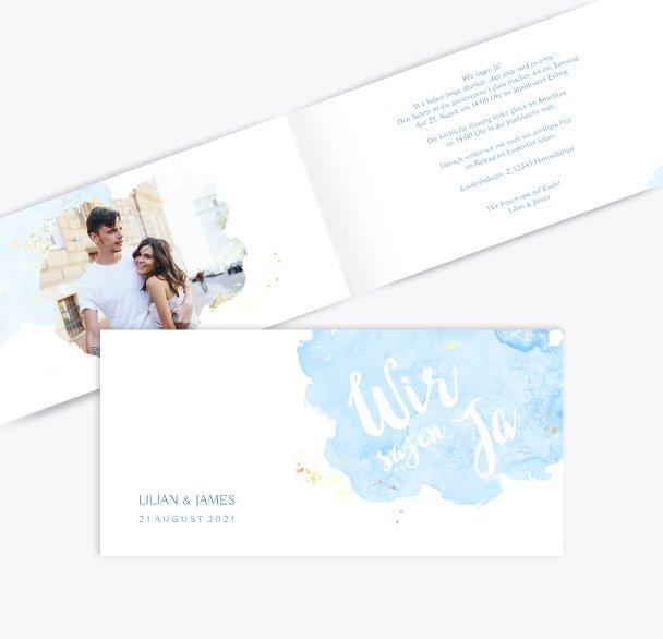 Hochzeit Einladungskarte Wolke Sieben