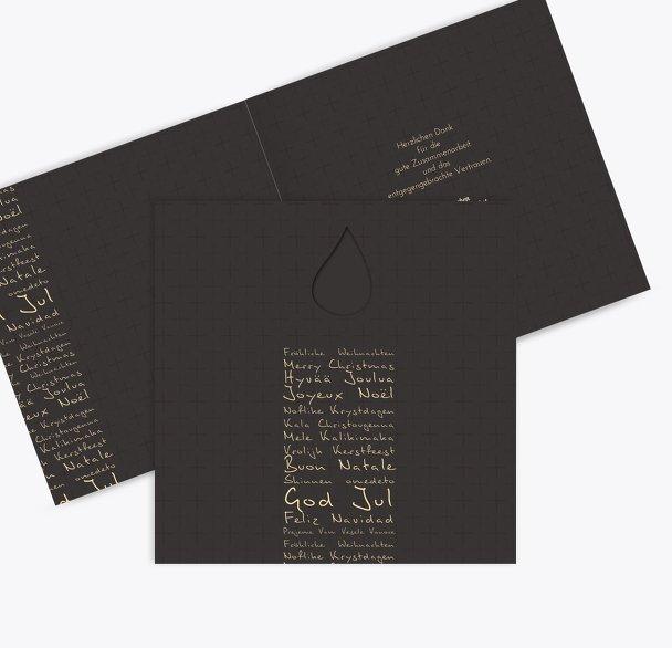 Grußkarte Schriftkerze
