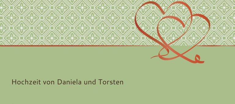 Ansicht 3 - Hochzeit Tischkarte Turteltäubchen