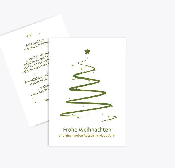 Weihnachtsgrußkarte Wunderbaum