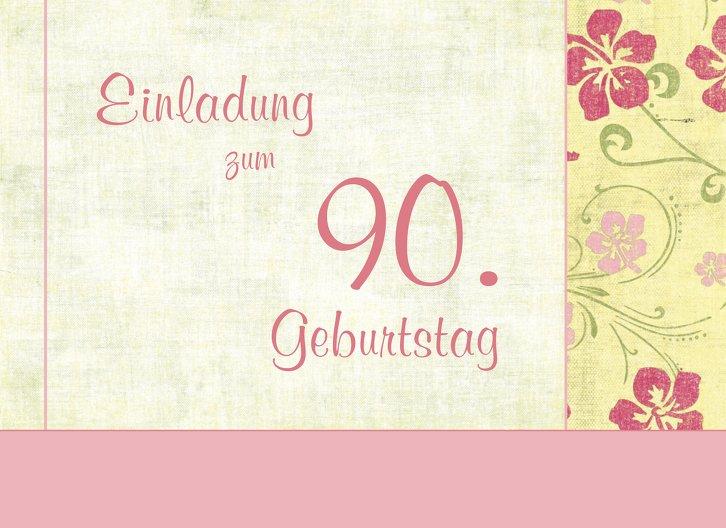 Ansicht 3 - Einladung zum Geburtstag Foto Hibiskus 90
