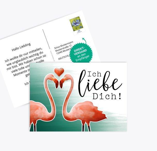Spruchkarte Flamingo