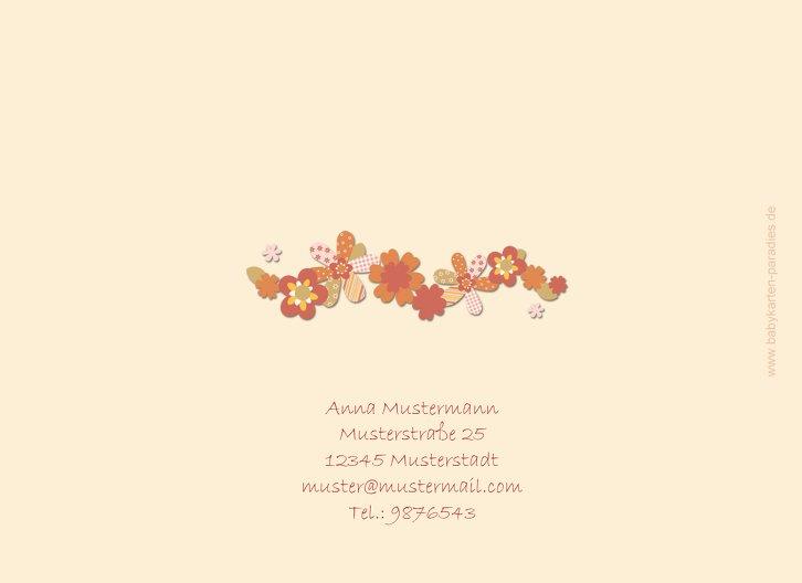 Ansicht 2 - Taufkarte Blumenband