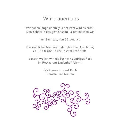 Ansicht 5 - Einladung Band der Liebe
