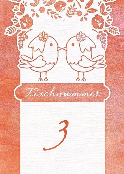 Ansicht 2 - Tischnummer Vogelpaar - Frauen