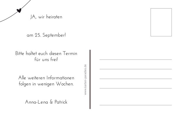 Ansicht 3 - Hochzeit Save-the-Date dress and suit