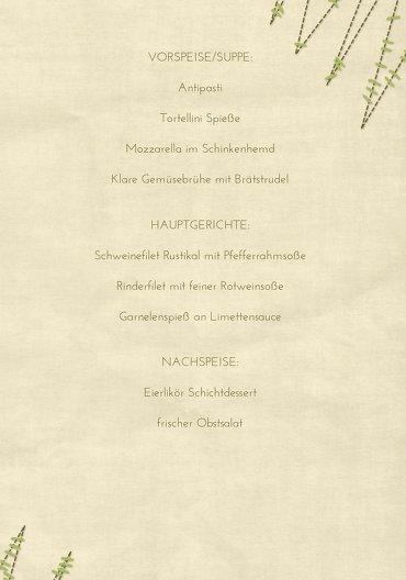 Ansicht 5 - Menükarte Nahtbaum