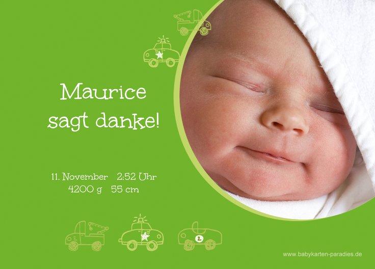 Ansicht 2 - Baby Dankeskarte Mobil