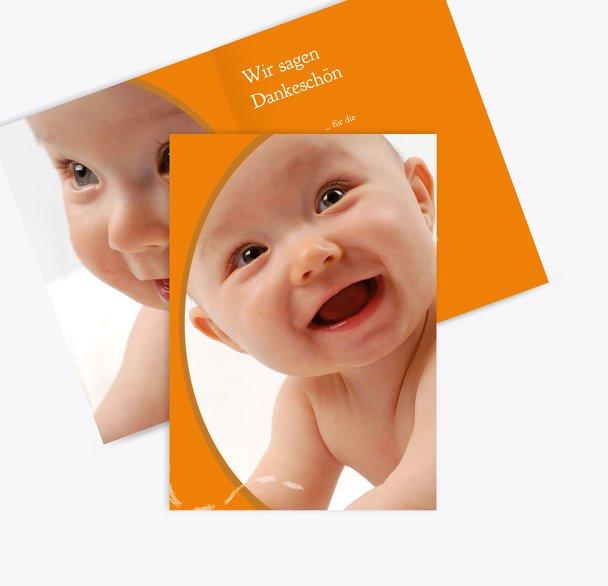 Baby Dankeskarte Libelle