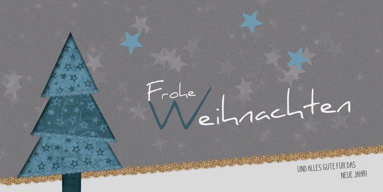Ansicht 3 - Weihnachtsgrußkarte Farbbäumchen