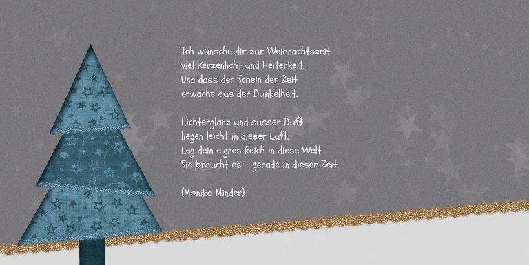 Ansicht 4 - Weihnachtsgrußkarte Farbbäumchen