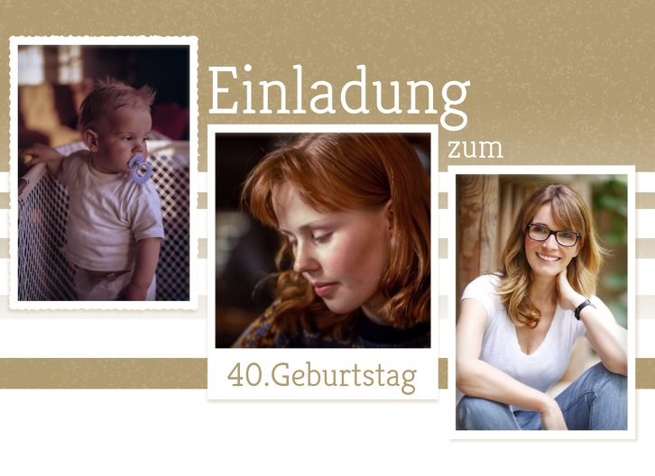 Ansicht 3 - Geburtstagseinladung Fotostrecke 40