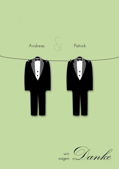 Ansicht 3 - Hochzeit Dankeskarten suits