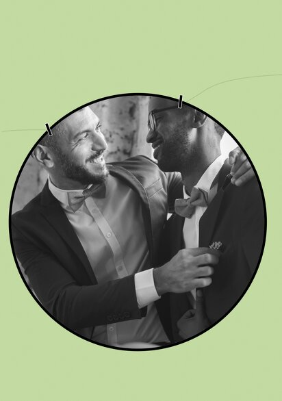 Ansicht 4 - Hochzeit Dankeskarten suits