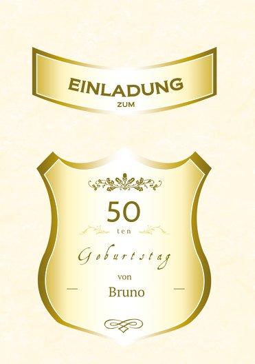 Ansicht 3 - Geburtstagseinladung label 50