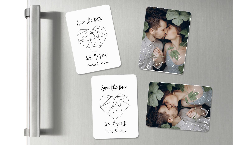 Ansicht 2 - Hochzeit Magnete straight heart