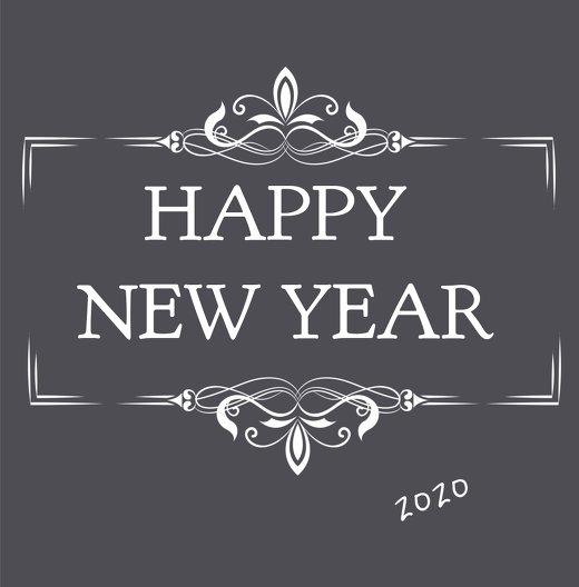 Ansicht 3 - Neujahrskarte Happy New Year