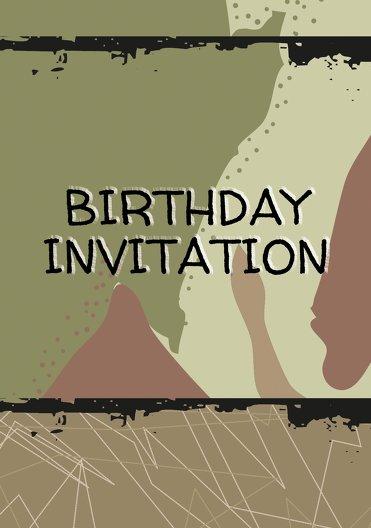 Ansicht 3 - Einladung Army Lifestyle