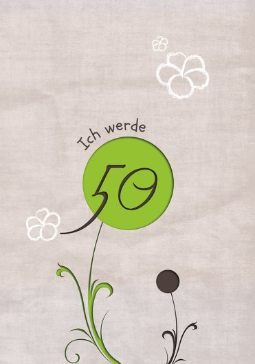 Ansicht 3 - Geburtstagskarte Fantasyflower 50
