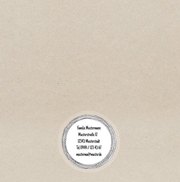 Ansicht 2 - Glückwunschkarte zur Geburt Vintage Eule