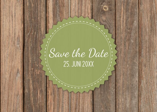 Ansicht 2 - Save-the-Date Vintage Holz