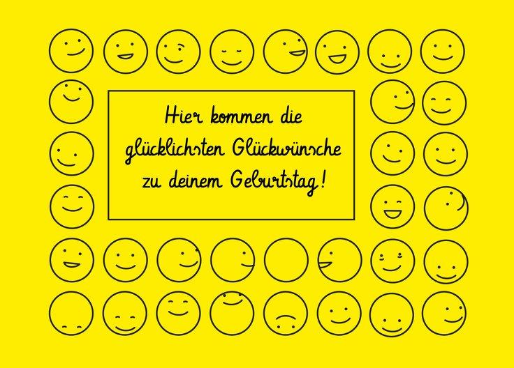 Ansicht 2 - Glückwunschkarte zum Geburtstag Smileys