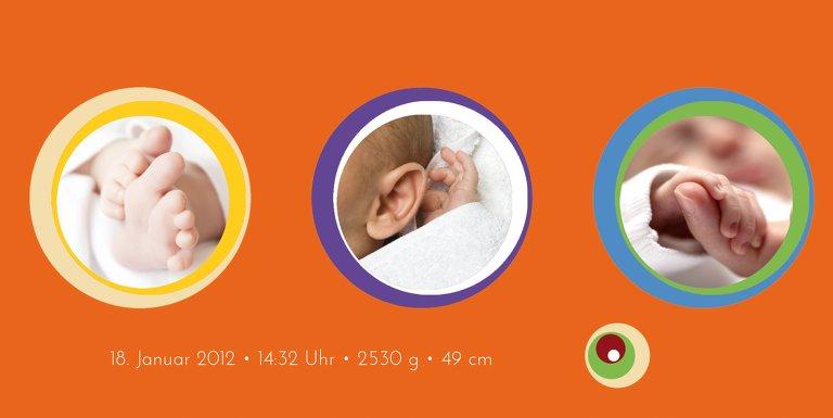 Ansicht 4 - Babykarte Retro