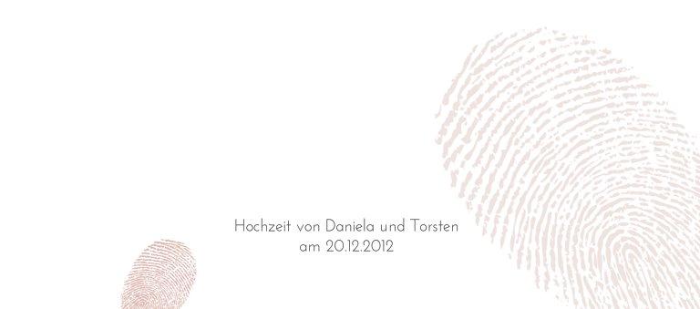 Ansicht 3 - Hochzeit Tischkarte fingerprint