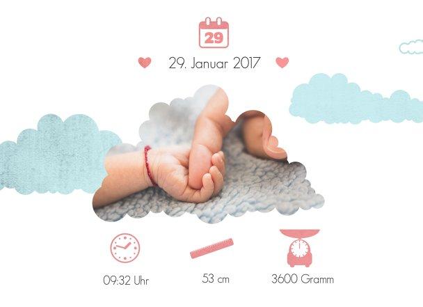 Ansicht 4 - Geburtskarte Klapperstorch